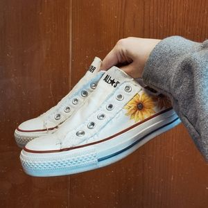 gently wore & redone custom painted converse
